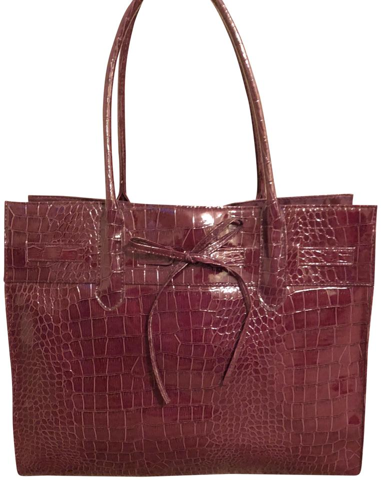 Jessica Simpson Ping Work Grocery Maroon Tote In New Burgundy