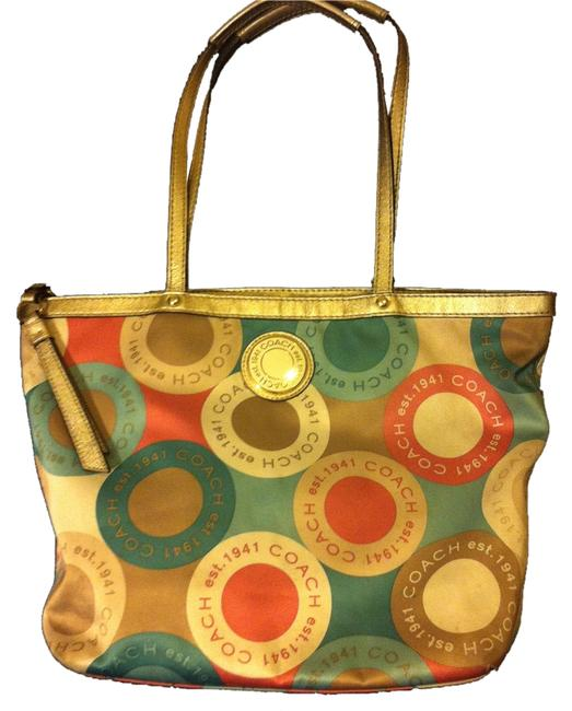 Item - 2-peice Lot (Reserved For K.r) Purse and Necklace Gold/Creme/Khaki/Blue/Peach Satin Shoulder Bag