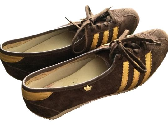 adidas Brown And Gold Athletic