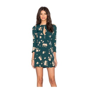 Privacy Please Floral Mini Keyhole Bohemian Dress