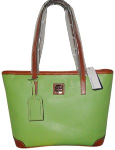 Dooney & Bourke Charleston Pebbled Medium Tote in Apple Green