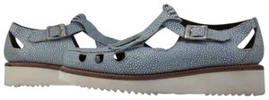Grenson Polka Dot Leather Up/Synthetic Casual Blue Stingray Sandals