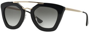 Prada Prada Sunglasses 09QS 1AB0A7 Cat Eye Cinema Black Grey Gradient New