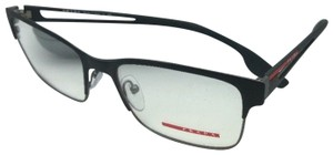 Prada New PRADA Sport Eyeglasses VPS 55I 6BJ-1O1 55-18 Rubberized Black-Gunm