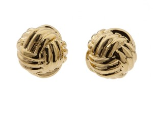 Kate Spade Kate Spade Gold Know The Ropes Knot Studs Earrings