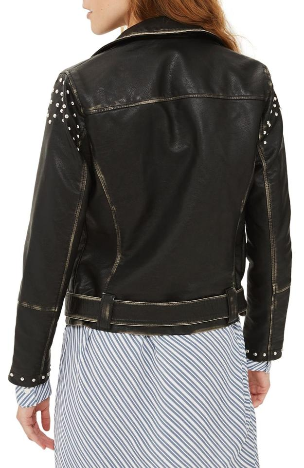 091d9fab7 Topshop Studded Moto Faux Night Out Leather Jacket Image 10. 1234567891011.  1 ∕ 11