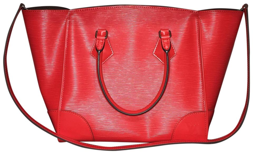 43fa1c80c1 Louis Vuitton Phenix Mm Handbag Work Travel-bag Shoulder Coquelicot Limited  Edition Red Leather Tote