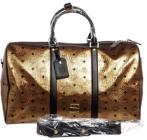 MCM Bronze and Black Travel Bag