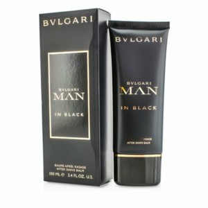 BVLGARI MAN IN BLACK AFTER SHAVE BALM FOR MEN-3.4 OZ-ITALY