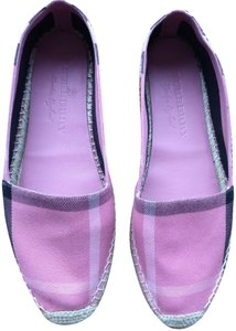Burberry Espadrille Pink check Flats