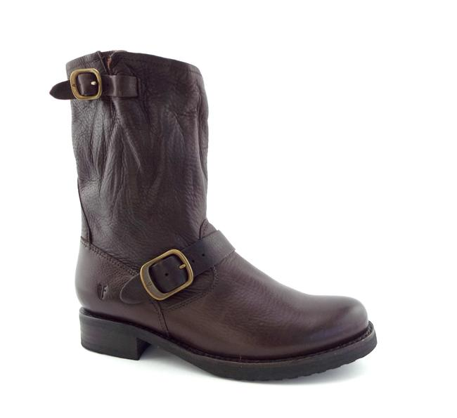 Item - Chocolate Brown Classic Leather Buckled Short Boots/Booties Size US 7.5 Regular (M, B)