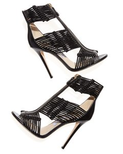 Jimmy Choo Hardware Ankle Strappy Anouk Katie Black, gold Sandals