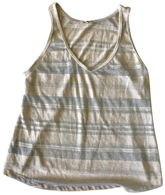 Item - Silver Slightly Sheer Tank Top/Cami Size 8 (M)