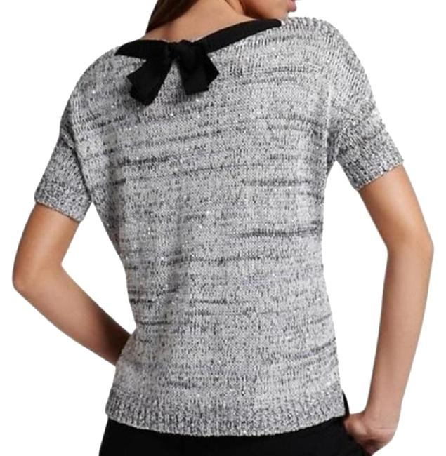 Item - Bow Knit Short Sleeve Size: X-small Grey / Silver Sweater
