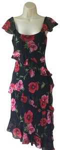 Sue Wong short dress Black, Red on Tradesy