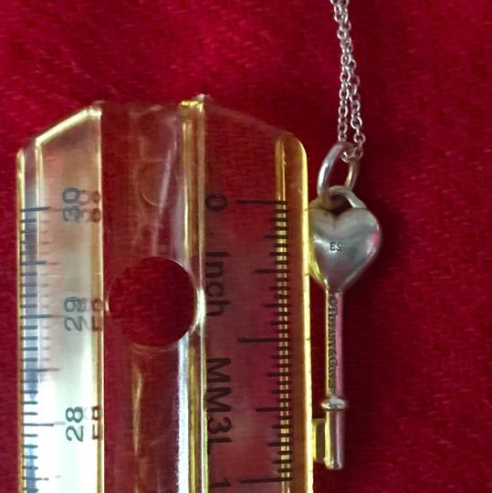 Tiffany & Co. TIFFANY & CO. Sterling Silver Key with Stone Pendant Necklace Image 2