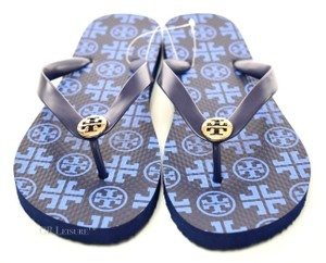 Tory Burch New Summer Flip Flop Blue Sandals