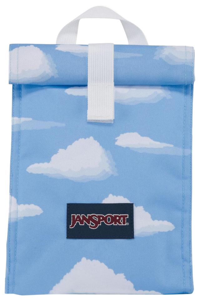 buy real online sale hot-selling clearance JanSport Blue & White Rolltop Lunch Bag Partly Cloudy Insulated School Bag