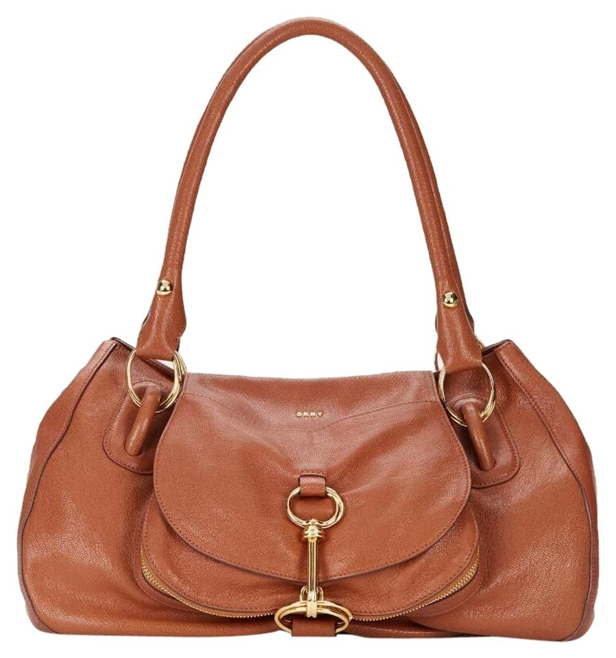 Dkny Leather 802892842931 Satchel In Brown