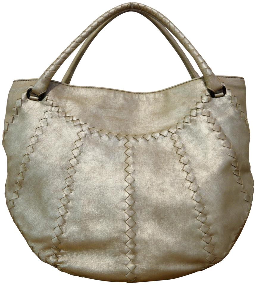 5f9c4ed78839 Bottega Veneta Intrecciato Gold Leather Shoulder Bag - Tradesy