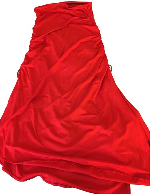 Item - Red with Split Sexy Skirt Size 10 (M, 31)