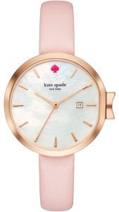 Kate Spade Pink Rose Gold Leather Stainless Steel Park Ave KSW1325 Watch