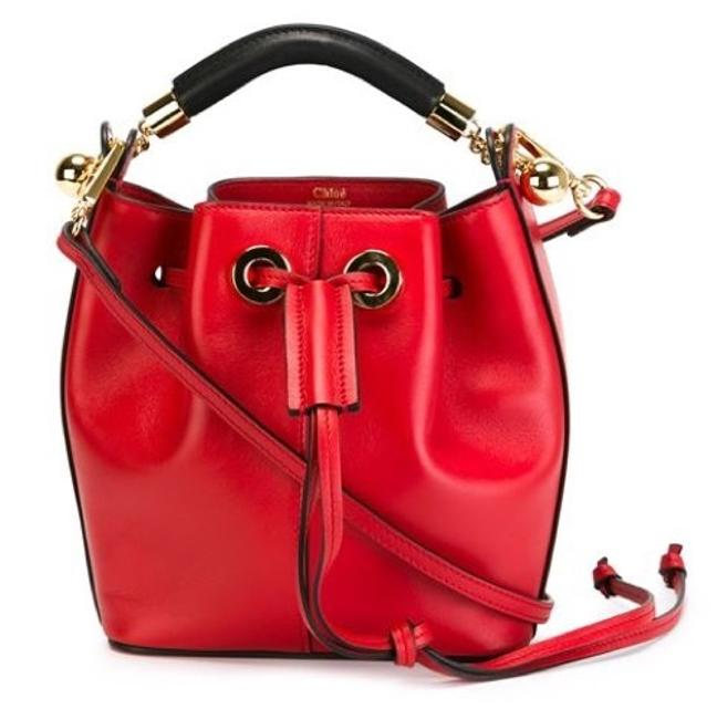 Item - Gala Bucket Small Red Leather Cross Body Bag