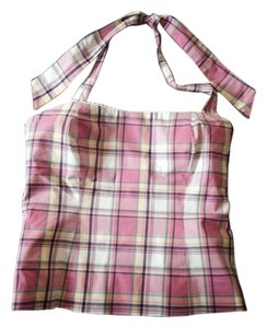 Lilly Pulitzer Halters Plaid Halter Pink Halter Top