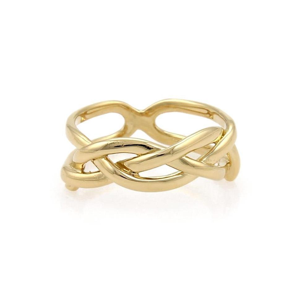 fa629214f Tiffany & Co. Vintage 18k Yellow Gold Infinity Band Ring Size - 4 Image 0  ...