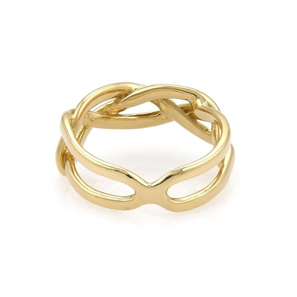 025a93e87 Tiffany & Co. Vintage 18k Yellow Gold Infinity Band Size - 4 Ring ...