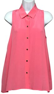 Juicy Couture Blouse Button Down Shirt Pink
