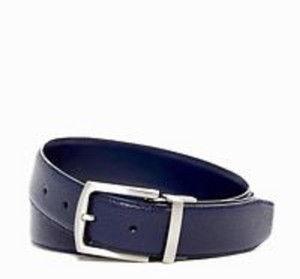 Cole Haan COLE HAAN BELT FEATHERED EDGE LEATHER BELT IN blue NEW W/TAGS34
