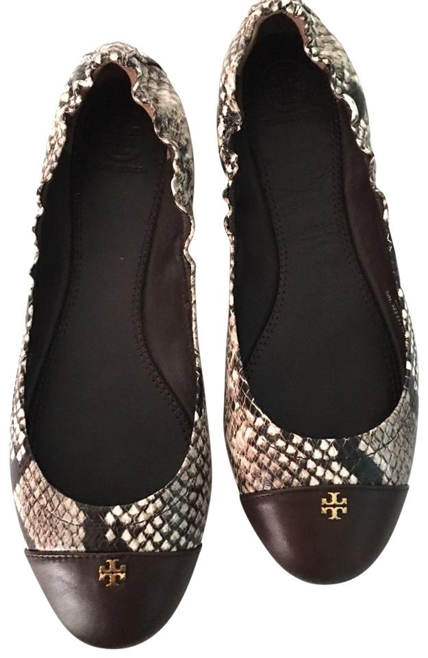 3765f2d8bd172 Tory Burch Multi Color York Embossed Snake Print Flats Size US 6 ...