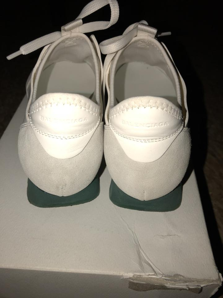woman Balenciaga White/ White/ White/ Teal Trainers Sneakers Online shop 719876