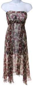 Marni short dress Multi Summer Strapless Silk A-line on Tradesy