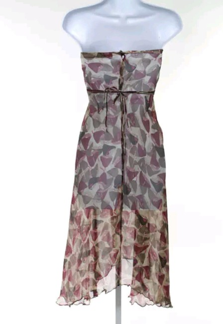 Marni short dress Multi Summer Strapless Silk A-line on Tradesy Image 1