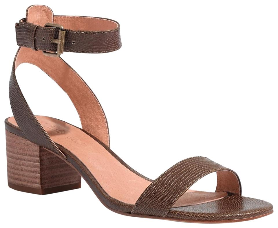 60a429efd6f7 Madewell Alice In Python Texture Sandals. Size  US 8.5 Regular (M ...