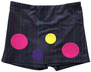 Lisa Perry Skort Girls Navy w/ multi color stripes