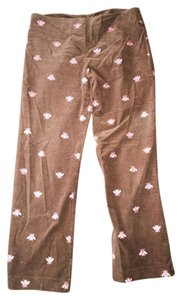 Lilly Pulitzer Puiltzer Corduroy Relaxed Pants Brown