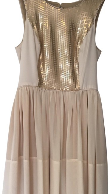 Preload https://img-static.tradesy.com/item/23494303/max-and-cleo-champagne-gold-chiffon-flat-sequined-short-cocktail-dress-size-2-xs-0-1-650-650.jpg