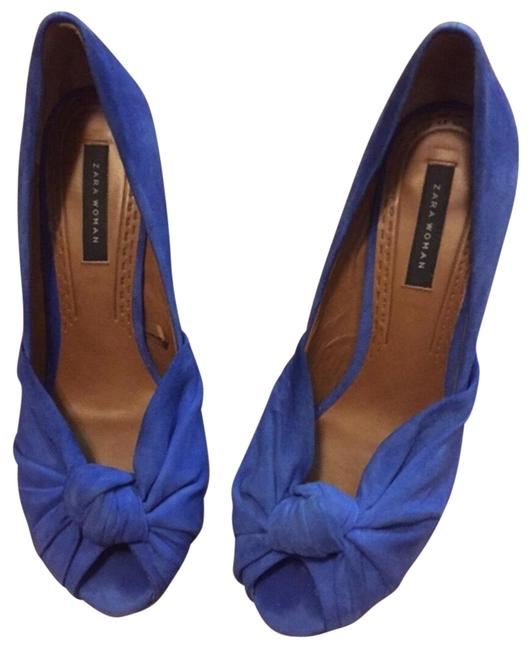 Item - Cobalt Suede Platform Pumps Size EU 40 (Approx. US 10) Regular (M, B)