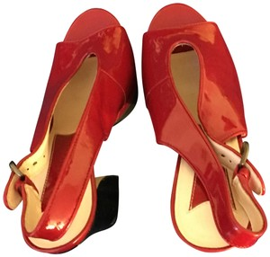 Boutique 9 Leather red Platforms