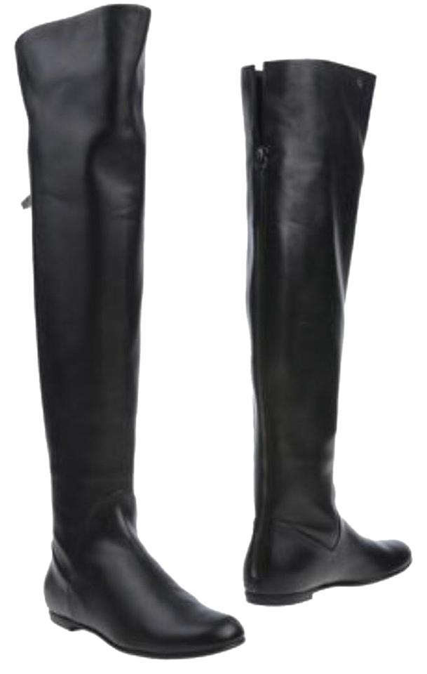 ladies Boots/Booties Giuseppe Zanotti Black Over-the-knee Boots/Booties ladies Elegant and robust menu bd5deb
