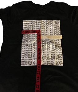 Zara T Shirt black and white and a strip of red