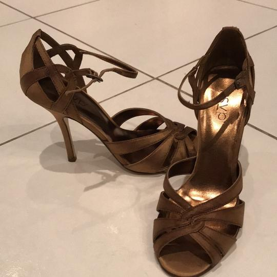RSVP Stiletto Night Out Taupe Satin Formal