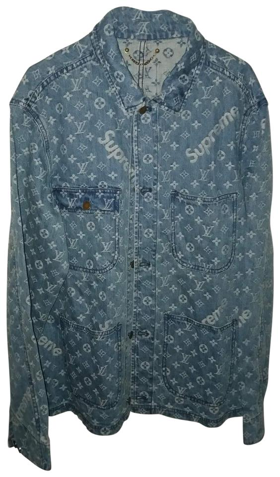 026508d645a2 Louis Vuitton x Supreme Denim Barn Jacket Size 14(L) - Tradesy