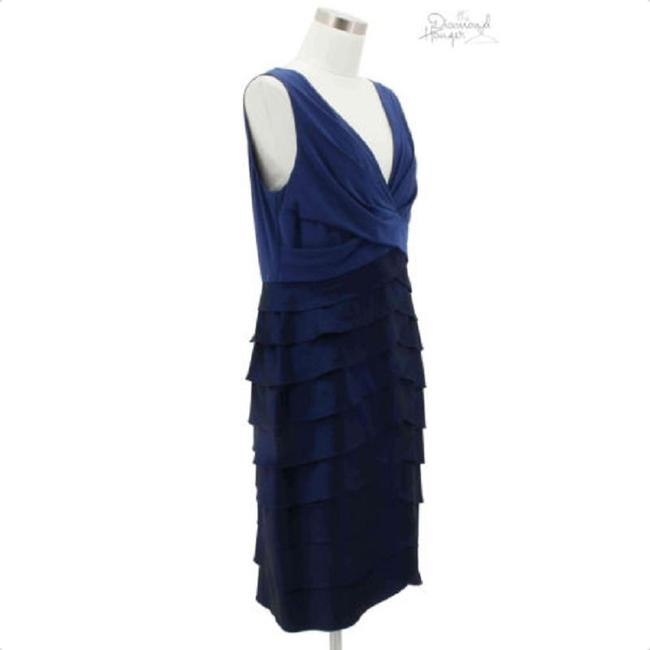 Adrianna Papell short dress Blue on Tradesy