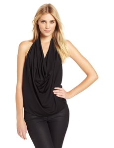 BCBGMAXAZRIA Black Halter Top