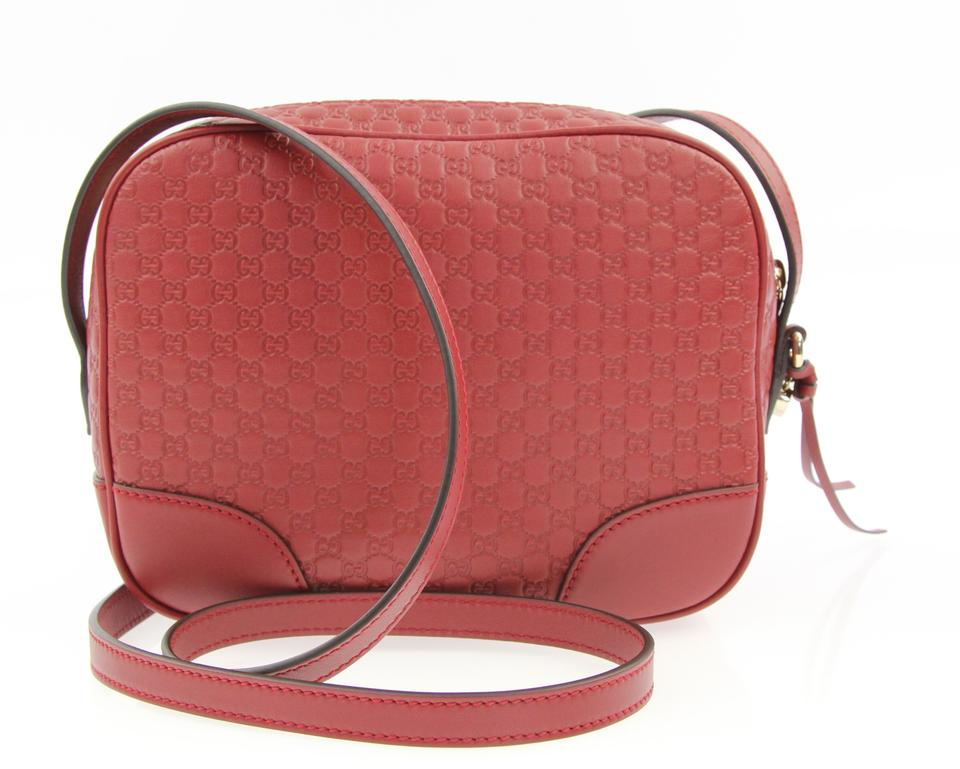 b61ef4dff63d Gucci Bree Disco Red Leather Cross Body Bag - Tradesy