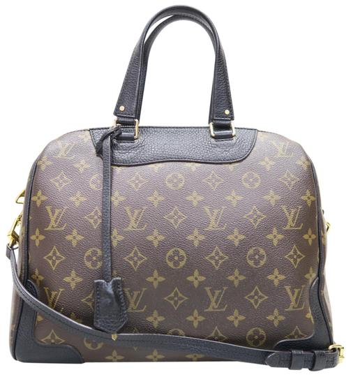 Preload https://img-static.tradesy.com/item/23495016/louis-vuitton-retiro-monogram-canvasblack-leather-brown-canvas-satchel-0-1-540-540.jpg